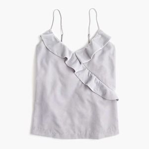 J. Crew Silver Velvet Going Out Top